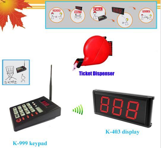 Queue calling system simple ticket dispenser