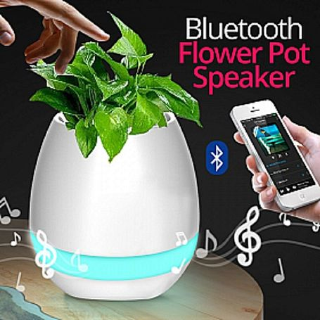 Smart flower pot With Bluetooth Speaker
