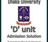 Dhaka University D unit admission home tutor