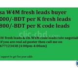 w4m unlimited code & fresh leads needed