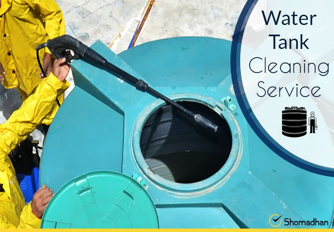 Water tank cleaning at home service - Shomadhan