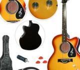 Barton GA204BCO-BK Acoustic Electric Cutaway Guitar