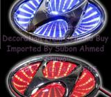 3D LED Car Decal Logo Light Badge Lamp Emblem for HYUNDAI