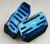 New Auto Pedal 2 Pcs Set Brake Cover Car Blue Black Pad