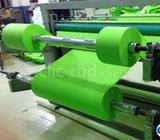 Non woven roll to sheet cutting