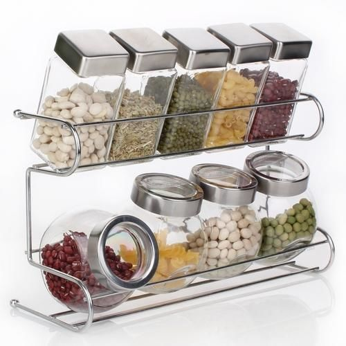 8 pis kitchen storage spice pot