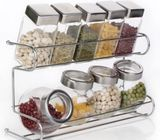 8 pis kitchen storage spice pot