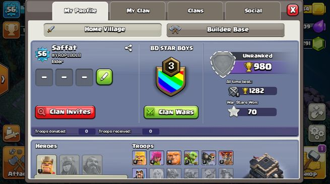 Clash of Class TH 9 Account for sell