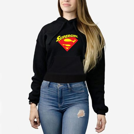 Female Crop Top Hoodie