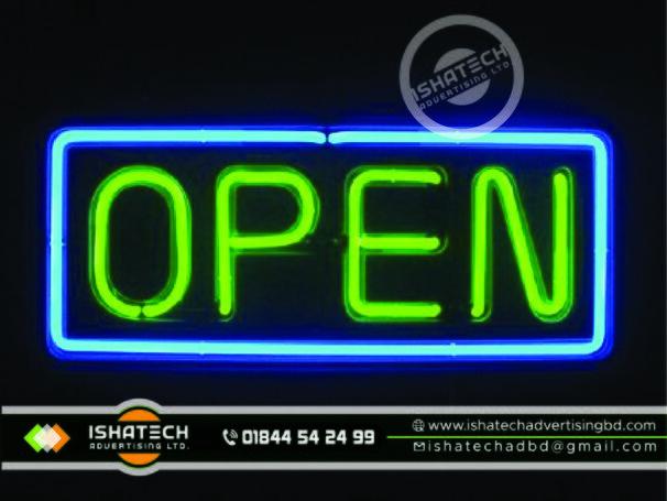 Neon Signage & Neon Lighting The Best Neon Sign Board Advertising Branding in Bangladesh.