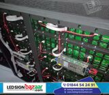 A LED display is a flat panel display that uses an array of light-emitting diodes as pixels for a vi