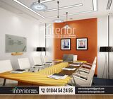 Office meeting room design,a bland conference room