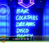 Neon Light Sign Board & Neon Sign Board, Neon Signage with Acp Board Backside Branding for Indoor &