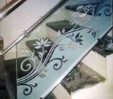 Stair Glass Frosted Sticker & Door Glass Injeck Sticker Branding with 3mm PVC Board Inject Sticker M