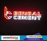 Acp off cut Acrylic Letter and LED Lighting Signboard