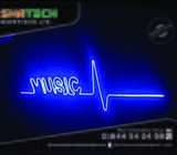 Neon Light Signage & Neon Light Letter, Customer Neon Sign Board with Open Neon Sign Letter Manufact
