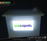 Event Product Rack LED Lighting Branding & Event Table Making with LED Lighting Name Plate for Indoo