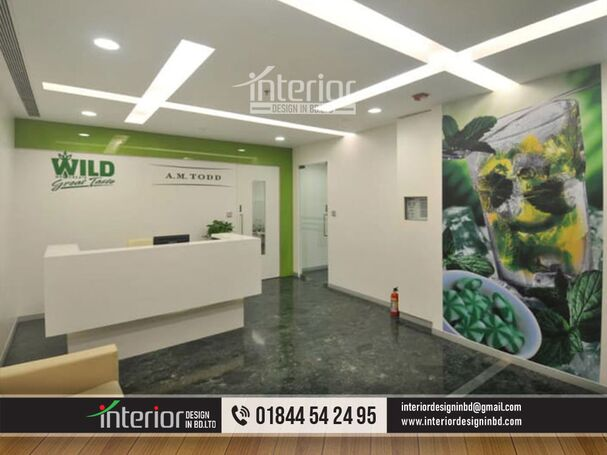 Modern reception ceiling & Certain areas like the reception ceiling design