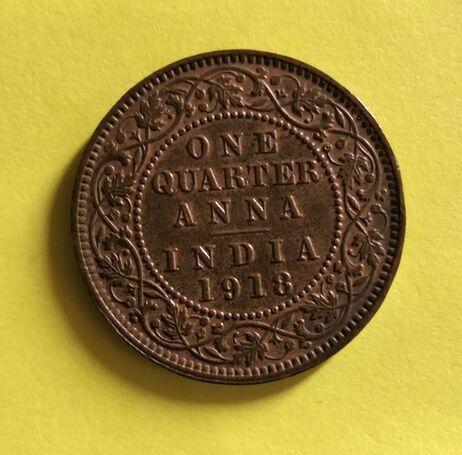 OLD BRITISH COIN 1918